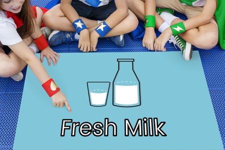 Organic Dairy Product Fresh Milk Word Graphic
