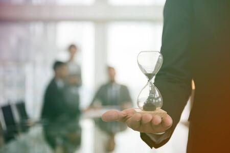 Fotogradiëntstijl met bedrijfstijduur Glastijd