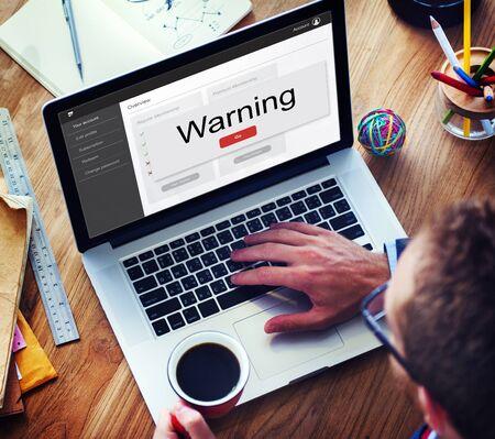 Cancel Reject Deny Warning Concept Фото со стока