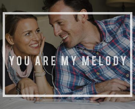 Love Melody Affection Intimacy Like Adore Care Фото со стока