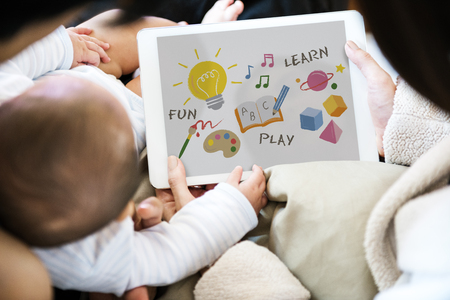 Illustration of child development education Imagens