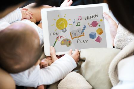Ilustración de la educación para el desarrollo infantil Foto de archivo - 81377424
