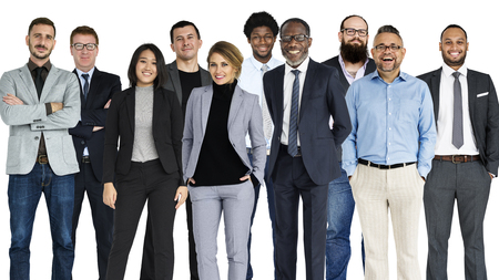 Diverse Business People Set Gesture Studio Isolated Stock Photo - 81380511