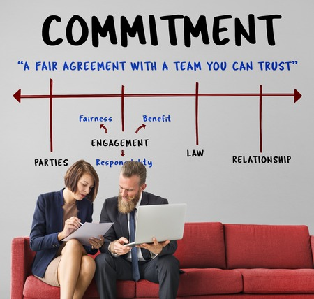 Agreement Commitment Negotiation Contract Deal Stock Photo