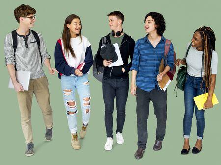 spolužák: Group of Diverse High School Students Studio Portrait Reklamní fotografie
