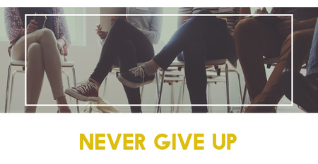 Never give up keep trying again. Stock fotó