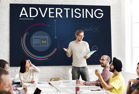 Graphic of business advertising data information