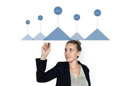 비즈니스 차트 그래픽 수치 데이터 분석 성장