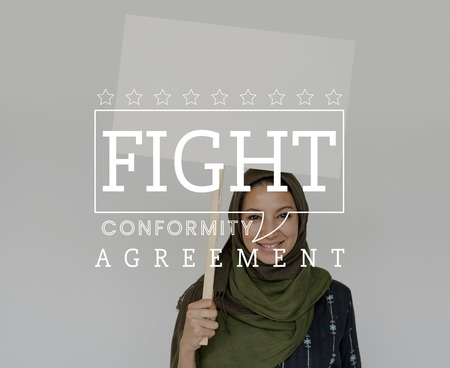 Equality Human Rights Liberty Fight for Freedom Justice Speech Bubble Graphic Stock Photo