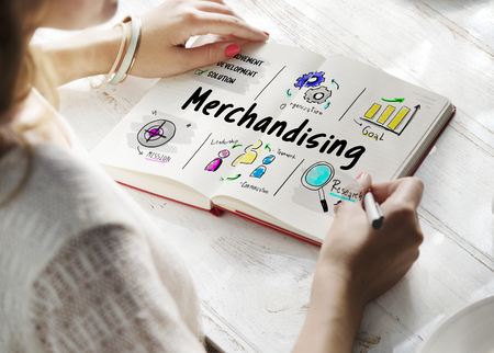 Merchandising business management strategy sketch Stock Photo - 81497285