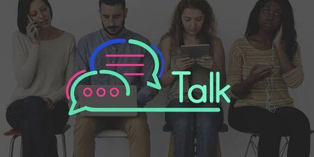 techie: Communication Connection Speech Bubble Concept