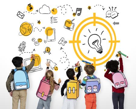 Education Study Childhood Skill Word Banco de Imagens - 81453259