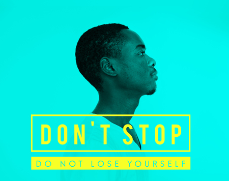 Dont stop overlay word young people
