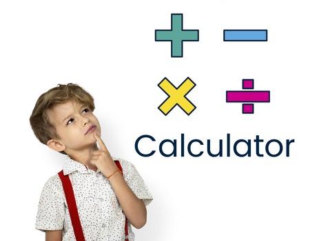 Illustration du symbole de la calculatrice mathématique Banque d'images - 81388778