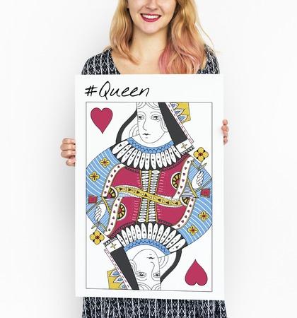 Koninginskaart Vrouwelijke Vrouwen Grafisch