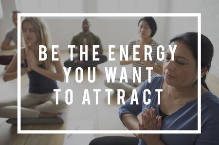 Be The Energy You Want To Attract Life Motivation Attitude Banco de Imagens