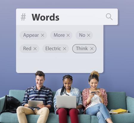 Words Lexicon Encyclopedia Vocabulary Stock Photo