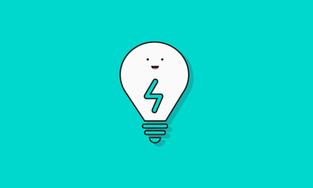 Lightbulb Idea Vector Icon Concept