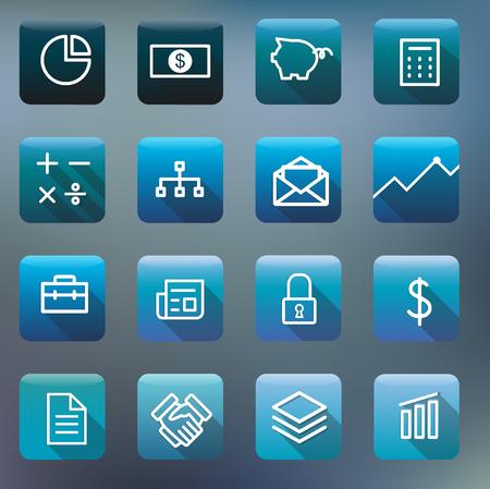 Pictograminzameling Vector bedrijfsfinancieel concept