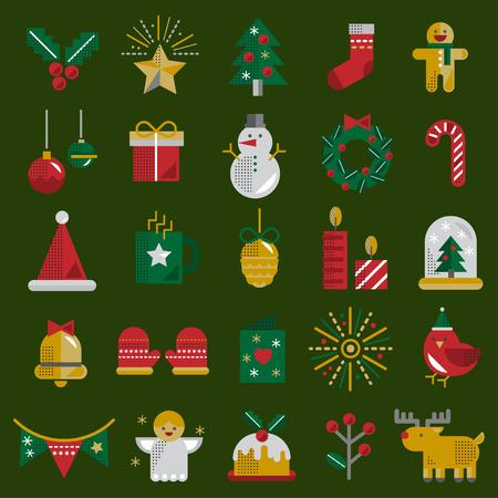 Christmas Vector Icon Set Collection Concept Stock Vector - 81443425