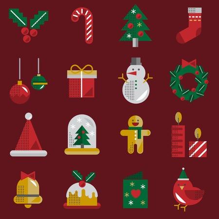 Christmas Vector Icon Set Collection Concept Stock Vector - 81443385
