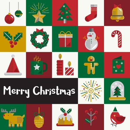 Christmas Vector Icon Set Collection Concept Stock Vector - 81443397