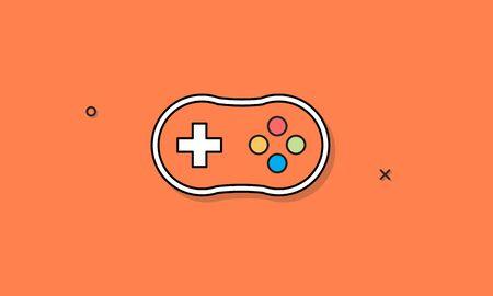 Joystick Game Controller Icon Vector Concept