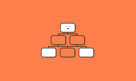 organisational: Flow Chart Graphic Icon Vector Concept