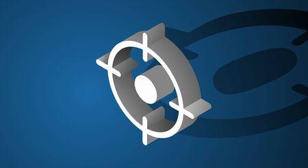 Doel Aspiratie Symbool Pictogram Concept Stock Illustratie