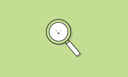 Magnifying Glass Icon Vector Concept 向量圖像