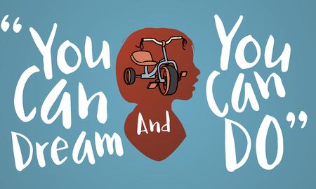 당신은 할 수있다 꿈 열망 개념