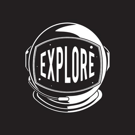 Explore Exploration Astro Icon Word Graphic Concept Vectores