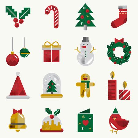 Christmas Vector Icon Set Collection Concept Stock Vector - 81441807