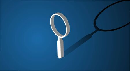 Magnifying Glass Searching Icon Vector Concept Ilustração