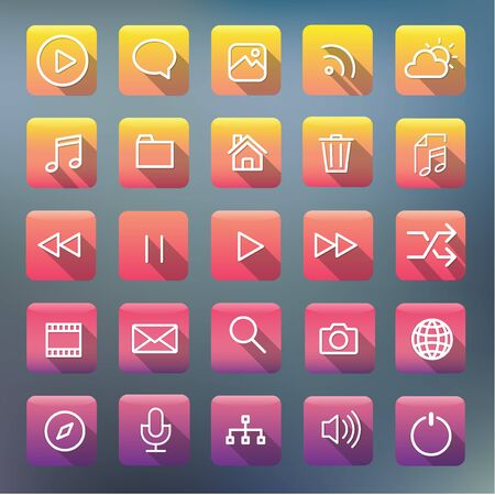 Icon Collection Vector Application Content Concept Illustration