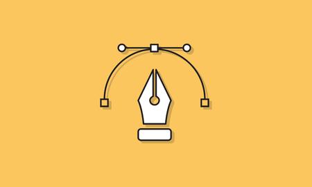 Kalligrafie Pen klassieke pictogram Vector Concept Stock Illustratie
