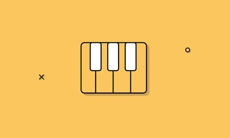 Piano instrument muziek pictogram concept Stockfoto - 81443352