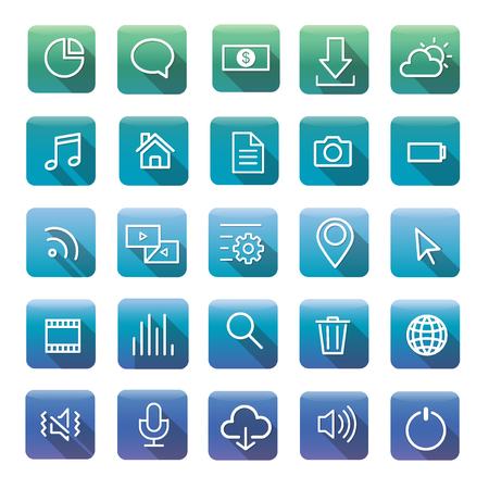 Icon Collection Vector Application Content Concept Imagens - 81442983