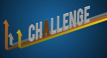 Challenge Word Graphic Improvement COncept Ilustração