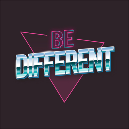 Be Differant Word Vector Artwork Concept