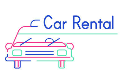 Illustration of automotive car rental transportation Stock Photo