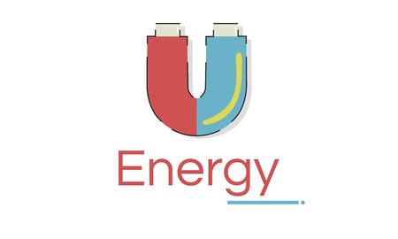 ホースシュー磁場エネルギーの図 写真素材