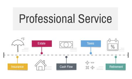 Services professionnels d'investissement Planification financière Banque d'images - 81572987