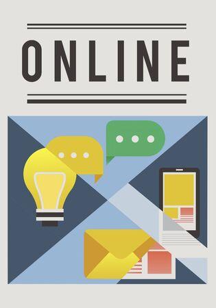 Les médias sociaux sont une connexion communautaire en ligne. Banque d'images - 81572992