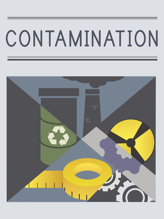 Chemical Contamination Infection Pollution Concept Stock Photo
