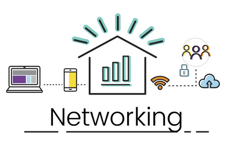 Network connection graphic overlay background