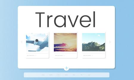 旅行旅行探査の旅観光 写真素材