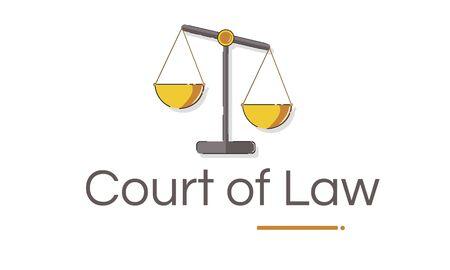Illustrazione dei diritti e della legge sulla scala della giustizia Archivio Fotografico - 81573240