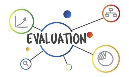 Evaluatie Assessment Informatiom Illustratie Graphics Concept