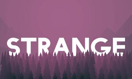 Curious Mystery Bizarre Strange Concept Banco de Imagens